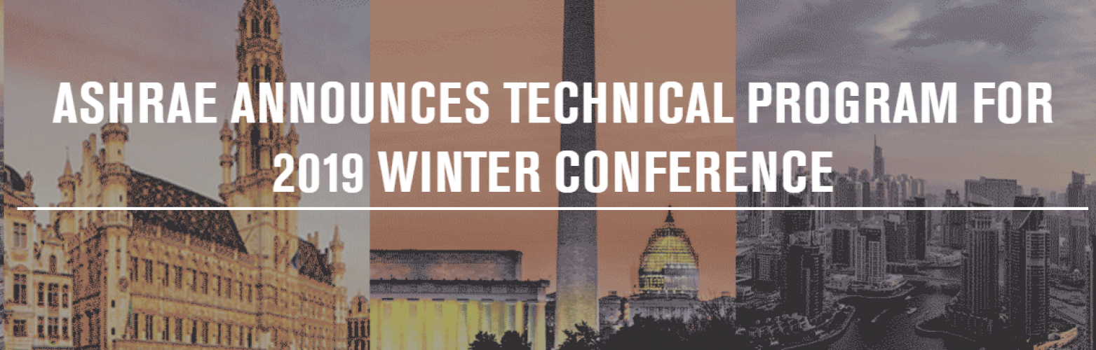 ASHRAE Announces Technical Program for 2019 Winter Conference